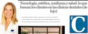 Articulo El Confidencial - Clinica dental Alpe